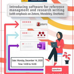 Introducing Software for Reference Management and Research Writing (with Emphasis on Zotero, Mendeley, OneNote)